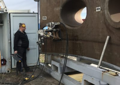 Drilling through steel at Ringhals NPP